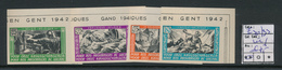 BELGIUM E30/33 IMPERFORATED MNH - Commemorative Labels