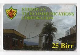 ETHIOPIE TELECARTE 25 BIRR ETC PARABOLE Date 2007 - Ethiopië
