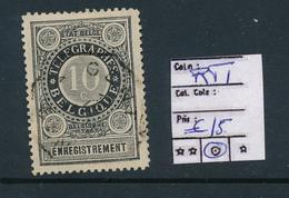 BELGIUM RT1 USED - Telegraphenmarken