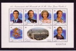 SPANIEN MI-NR. 3695-3701 POSTFRISCH(MINT) KLEINBOGEN 25 JAHRE REGENTSCHAFT KÖNIG JUAN CARLOS I 2001 - Blocs & Feuillets