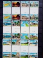 ALDERNEY MI-NR. 1-12 O ZWISCHENSTEGPAARSATZ ANSICHTEN VON ALDERNEY SCHIFFE LEUCHTTURM WAPPEN KIRCHE GOLF TURM - Alderney
