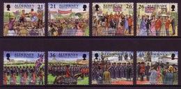 ALDERNEY MI-NR. 158-165 O GETRENNT HISTORISCHE EREIGNISSE TRUPPENPARADE BOXEN 2000 - Alderney