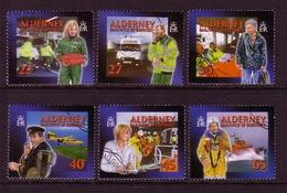 ALDERNEY MI-NR. 199-204 A O SOZIALE DIENSTE (II) - GESUNDHEITSWESEN 2002 - Alderney