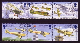 ALDERNEY MI-NR. 83-88 O ZD TOMMY ROSE - TESTPILOT JAGDFLIEGER SPORTFLIEGER 1995 - Alderney
