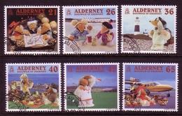 ALDERNEY MI-NR. 151-156 O TRICKFIGUREN WOMBLES 2000 LEUCHTTURM - Alderney