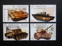 ST. VINCENT MI-NR. 6178-6181 POSTFRISCH(MINT) PANZER 2005 - Militaria