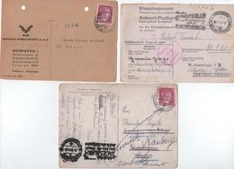 ALLEMAGNE. III ème REICH. LETTRES Et DOCUMENTS ( 6 ) 1942-43-44. - Storia Postale