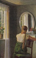AK Alfred Broge - Morgentoilette - Erpaco Faksimile-Ölgemälde - 1917  (49600) - Paintings