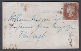 GB 1841 1d Red Imperf ME 1848 Cover Portland Town 0217 - 1840-1901 (Regina Victoria)