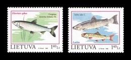 Lithuania 1998 Mih. 671/72 Protected Fauna. Fishes. European Whitefish And Atlantic Salmon MNH ** - Lituania