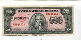 CUBA 500 PESOS 1950 XF NR 12.95 - Cuba