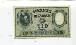 SWEDEN 10 KRONOR 1955 XF 3.75 - Sweden