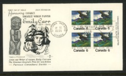 Canada FDC 1970 (Plate Block On Cover) - 1952-.... Règne D'Elizabeth II