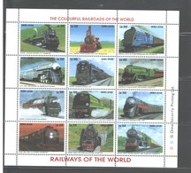 "SIERRA LEONE  1995  ""TRAINS""  M.S.  #1853a - L  MNH - Sierra Leone (1961-...)"