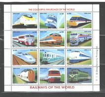 "SIERRA LEONE  1995  ""TRAINS""  M.S.  #1852a - L  MNH - Sierra Leone (1961-...)"