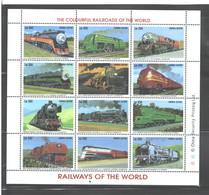 "SIERRA LEONE  1995  ""TRAINS""  M.S.  #1851a - L  MNH - Sierra Leone (1961-...)"
