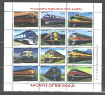 "SIERRA LEONE  1995  ""TRAINS""  M.S.  #1850a - L  MNH - Sierra Leone (1961-...)"