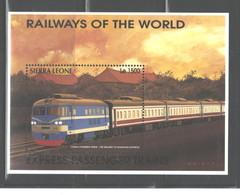 "SIERRA  LEONE   1995  ""TRAINS""  M.S.  #1853P - Sierra Leone (1961-...)"