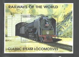 "SIERRA  LEONE   1995  ""TRAINS""  M.S.  #1853Q - Sierra Leone (1961-...)"