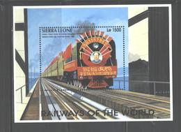 """SIERRA  LEONE   1995  """"TRAINS""""  M.S.  #1853O - Sierra Leone (1961-...)"""