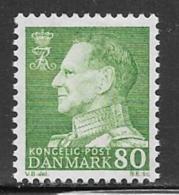 Denmark Scott # 440 Mint Hinged Frederik LX, 1967 - Dänemark