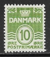 Denmark Scott # 318 Mint Hinged Numeral, 1950 - Dänemark
