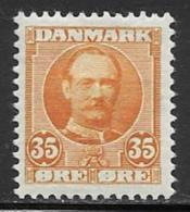 Denmark, Scott # 76 Mint Hinged Frederik, 1912 - 1905-12 (Frederik VIII)