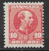 Denmark, Scott # 71 Mint Hinged Christian LX, 1906 - 1905-12 (Frederik VIII)