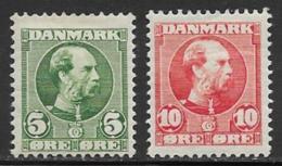 Denmark, Scott # 70-1 Mint Hinged Christian LX, 1905-6 - 1905-12 (Frederik VIII)