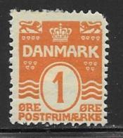 Denmark, Scott # 57 Mint Hinged Numeral, 1906, Round Corner - 1905-12 (Frederik VIII)