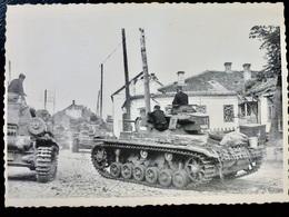 GERMAN Photo WW2 WWII ARCHIVE : PANZERTRUPPEN Sur Char PANZER III - Guerre, Militaire