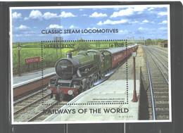 "SIERRA  LEONE   1995  ""TRAINS""  M.S.  #1853M - Sierra Leone (1961-...)"