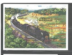 "SIERRA LEONE   1999   ""TRAINS""  M.S.  #2221   MNH - Sierra Leone (1961-...)"