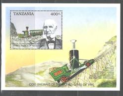 """TANZANIA  1990   """"TRAINS""""  M.S.  #667  MNH - Tanzania (1964-...)"""