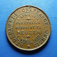 Medal - Gemeente Neuzen Zeeland - Nederlands Onafhangelijkheid 1872 - Paesi Bassi