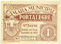 PORTALEGRE - Cédula De 1 Centavo - 4 .ª Serie - M.A. 1814 - 31.12.1922 - Portugal - Emergency Paper Money Notgeld - Portugal