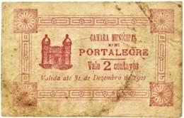 PORTALEGRE - Cédula De 2 Centavos - III .ª Serie - M.A. 1813 - 31.12.1921 - Portugal - Emergency Paper Money Notgeld - Portugal