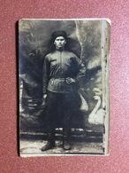 Vintage USSR Russian Real Photo 1925 Man Warrior Circassian. Uniform, Papakha, Folding Belt - Oorlog, Militair