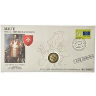 Malte, 2 Euro, 2008, Enveloppe Philatélique Numismatique, SPL, Bi-Metallic - Malta