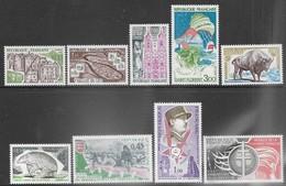 France  1974   Sc#1403-11 Sets MNH   2016 Scott Value $5.15 - Unused Stamps