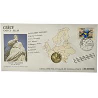 Grèce, 2 Euro, 2005, Enveloppe Philatélique Numismatique, SPL, Bi-Metallic - Grèce