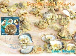 30Q: CM,Carte Maximum Card,Sabah Black Pearl, Ornament, Necklace, Maxi Card, MC - Coneshells