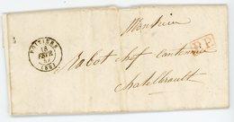 VIENNE LAC 1847 POITIERS T15 EN P.P. - 1801-1848: Precursores XIX