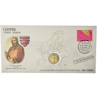 Chypre, 2 Euro, 2008, Enveloppe Philatélique Numismatique, SPL, Bi-Metallic - Chipre
