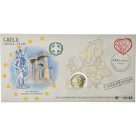 Grèce, 2 Euro, 2010, Enveloppe Philatélique Numismatique, SPL, Bi-Metallic - Grèce
