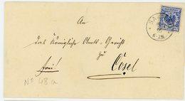 ALLEMAGNE LST 1896  SAKRAU CAD SUR N°48a       LETTRE - Cartas