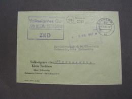 ZKD Klei Trebbow , Schwerin 1967 - Official