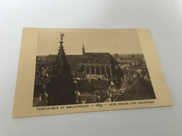 CP - 1600 - Le Strasbourg Disparu - Temple-Neuf Et Bibliothèque 1855 - Strasbourg