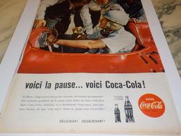 ANCIENNE PUBLICITE VOICI LA PAUSE COCA COLA 1960 - Afiches Publicitarios