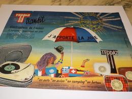 ANCIENNE  PUBLICITE J APPORTE LA JOIE  TEPPAZ LYON 1960 - Other